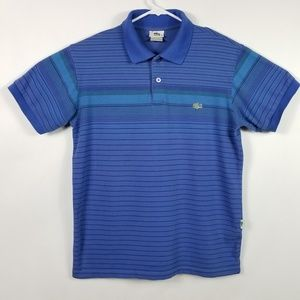 Lacoste Size 4 Polo Shirt Striped Medium Top